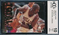 MICHAEL JORDAN 1995-96 FLEER TOTAL D BCCG 10 INSERT CARD #3 BGS!