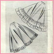"RARE Vintage 50s FULL SKIRT Sewing Pattern Waist 24"" RETRO Rockabilly PETTICOAT"