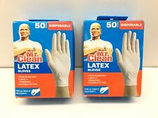 2 - Mr. Clean Latex DisposabIe Gloves 50 ct per Box One size