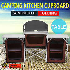 Camping Kitchen Picnic Cabinet Table Portable Folding Cooking Storage Rack