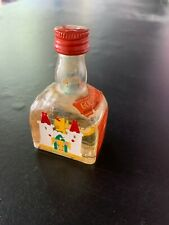 Goldwasser Liquer Bottle Vintage Miniature 1/10 Pint Bar Decor Decanter