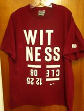 LEBRON JAMES lrg T shirt Cleveland Cavaliers beat-up tee Witness 12-25-2008 Nike
