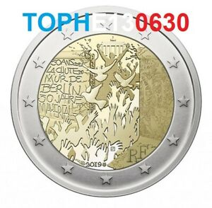 """FRANCE 2 EURO COMMÉMORATIVE 2019 """"MUR DE BERLIN"""""""