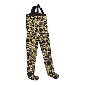 Cabelas Neoprene Thinsulate Chest Waders Stocking Foot Camouflage Sz Large
