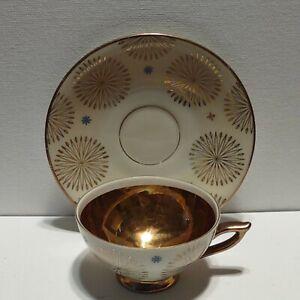 Seltmann Weiden Bavaria China Demitasse Tea Cup & Saucer Atomic Starburst