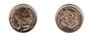 Seychelles - 1 Cent 2016 UNC Lemberg-Zp