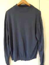 BACHRACH XL Mock Neck Sweater Silk Blend Brown Men's