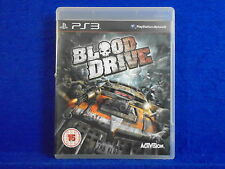 ps3 BLOOD DRIVE A Vehicular Combat Game Playstation PAL UK Version REGION FREE