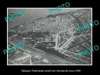 OLD LARGE HISTORIC PHOTO NIJMEGEN NETHERLANDS HOLLAND TOWN AERIAL VIEW c1940 1