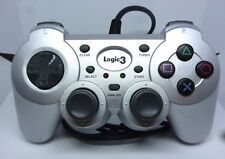 Sony Playstation PS1 PS2 PS3 Logic 3 Controller Silver Dualshock
