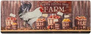 "Farmhouse Kitchen Mat Cushioned Anti-Fatigue Memory Foam Waterproof, 47"" by 17"""