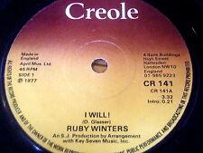 "RUBY WINTERS - I WILL      7"" VINYL"