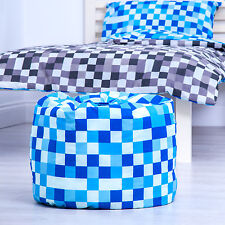 Blue Sky Pixels Childrens Filled Beanbags Kids Bedroom Play Room Bean Bag Game