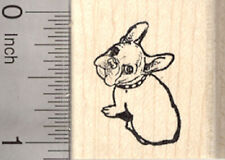 French Bulldog Rubber Stamp, Looking Up, Small D26811 WM
