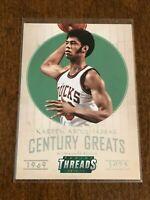 2014-15 Panini Threads Basketball Century Greats - Kareem Abdul-Jabbar - Bucks