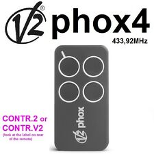 V2 PHOX4-433 télécommande, 4 canaux 433,92Mhz. The new version of V2 PHOENIX4