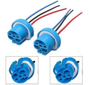 Wire Pigtail Female P 9007 HB5 Head Light Two Harness Bulb Halogen Plug Socket