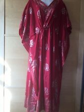 Red and gold kaftan, BNWOT
