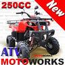 MOTOWORKS 250CC FARM ATV QUAD BUGGY Gokart 4 Wheeler MOTOR BIKE DIRT RED