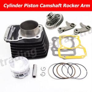 Black Big Bore Cylinder Piston Camshaft Rocker Arm For Honda XR125L NXR125 BROS