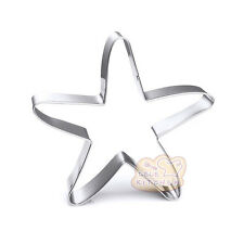 2 Pcs Packed Sea Starfish Stainless Steel Cookie Dessert Fruit Cutters DIY Mould