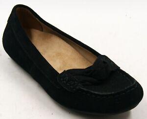 Vionic Norah Black Suede Casual Slip On Comfort Flats Shoes Women's Sz 7.5 M