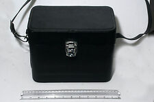 Vintage Black Leather, Red lined small Camera case, perfect as Pirate accessery
