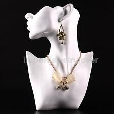 Mannequin Head Bust Stand Jewelry Display Necklace Earring Chain Holder Rack