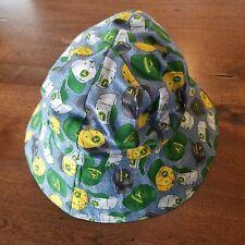 John Deere Vtg Reversible Floppy Sun Hat Green Hat Print Child Size