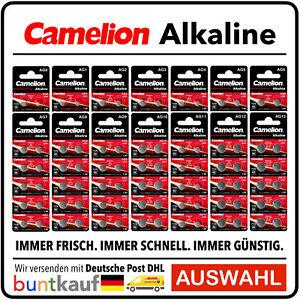 Camelion Knopfzellen Uhren - Batterien AG0 bis AG13 Alkaline 0% HG frische Ware