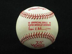 1978 Official World Series Baseball NEW UNUSED New York Yankees LA Dodgers