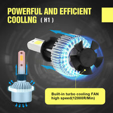H1 200W 20000LM LED Headlight Conversion Kit Car Beam Bulbs Driving Lamps