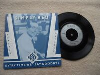 """SIMPLY RED EV'RY TIME WE SAY GOODBYE W.E.A. RECORDS UK 7""""  VINYL SINGLE in P/S"""