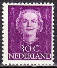 1949-1951 Koningin Juliana 30 cent paars ongestempeld NVPH 526