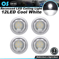 Pack of 2 Ledvillage 3 Inch Oval Amber LED Mini Cab Panel Lights 3-3528 SMD Side Marker Clearance Lamp for Trailer RV Truck Bus Pickup Caravan Tow Tractor Boat 12V DC Shockproof with Chrome Bezel Q0