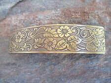 Antiqued French Clip Brass Hair Barrette 80MM Clip  Made in USA 6044B