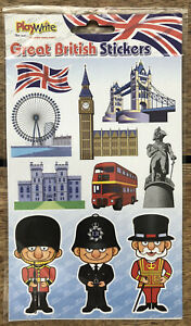 New - GREAT BRITAIN STICKERS (1 Sheet) London Bus Guards etc - Party Bags