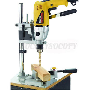 Bench Clamp Drill Press Stand Hand Drills Electric Drilling Pedestal Holder US