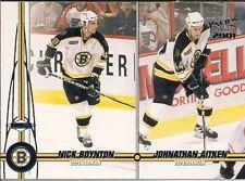 BOSTON BRUINS Nick Boynton Johnathan Aitken 2001 Pacific Rookies