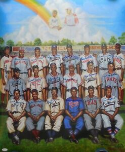 Negro League HOF'ers & Stars Signed 24x30 Poster 21 Sigs JSA Authenticated