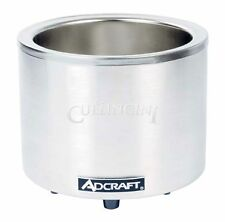 Adcraft Food Warmer Round Cooker 7/11 Quart Stainless Steel - Fw-1200Wr