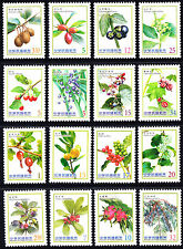 Taiwan 2012 2014 Berries Fruits  Set of 16 Stamps MNH