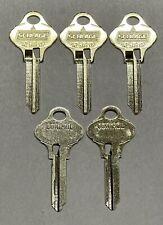 5 Pack Schlage Everest 29 Key Blanks 35 269 Ev 468 S123