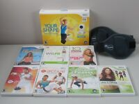 Wii 9 Game Fitness Bundle EA Active Zumba Jillian Michaels Daisy Fuentes Pilates