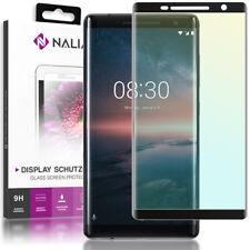 NALIA Schutzglas für Nokia 8 Sirocco, 3D Full Cover Displayschutz Handy Folie