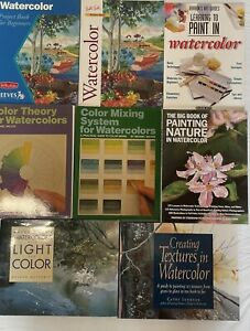 LOT of 8 Watercolor Instructional Painting Art Books Various Authors Great Cond.