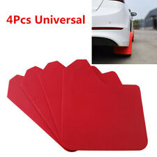 "4Pcs 11.5""×15.1"" Red Moulding Mudflaps Mud Flaps Splash Guards For Car SUV Truck"