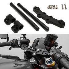 1Set Handlebar Kit Clip On Adapter Plate For DUCATI Monster 696 796 1100 Black