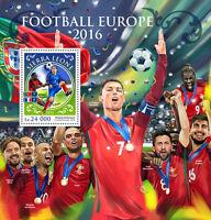 Sierra Leone 2016 MNH Euro 2016 Football 1v S/S Ronaldo Griezmann Soccer Stamps
