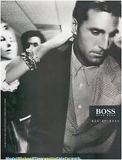 ▬► PUBLICITE ADVERTISING AD Hugo Boss mode homme men Michael Flinn 1994